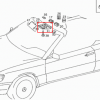 A124 Innerliche Kuppelleuchte der Mittelkonsole (w124 cabriolet, cabrio, drop top) 1248202901