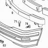 R129 AMG Copertura gancio di traino, copertura paraurti (modello precedente, HWA1298800105)