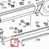 R129 Cubierta del punto de enganche-elevación, juego de 4 piezas (A1296982730 A1296982630R A1296982530L)