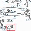 W123 Wkładka drzwi - lewe lub prawe (W109 W112 C123 S123 W110 W111 W113 W114) 1087660390