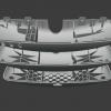 R129 A124 Cubierta del espejo retrovisor (versión con botones) - completa (marco + carcasa) 1298110635
