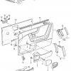 VW Corrado Osłona głośników drzwi (lewa lub prawa)