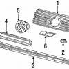 VW Corrado Frontgrill Gummitüllen Stopfbuchsen (3er Satz)