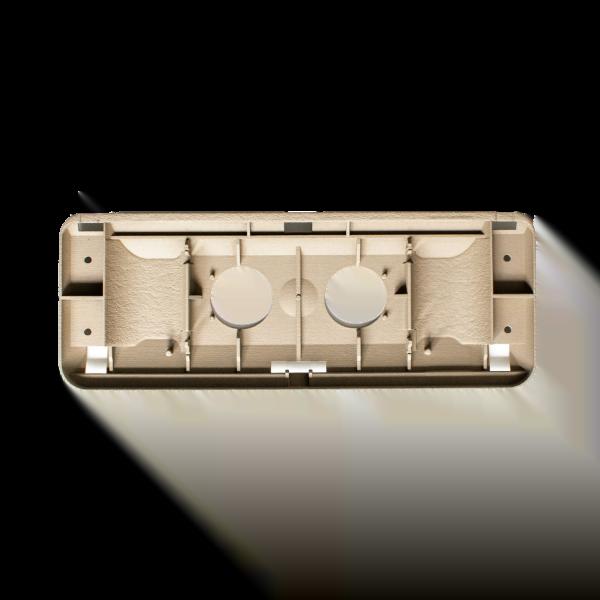 R129 Cuscinetto per specchietto di vanità (inserto per aletta parasole Mercedes A124)